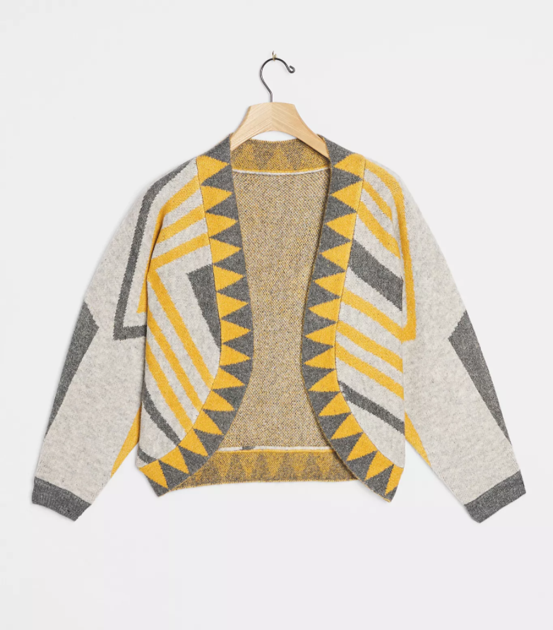"""<h2>Pacey Cropped Cardigan</h2><br>A dazzling geometric print gives this one-size-fits-all shrug way more presence than your average twinset. We can see this statement-making print livening up your look on those mornings when you wake up five minutes before your team's daily Zoom check-in.<br><br><strong>Anthropologie</strong> Pacey Cropped Cardigan, $, available at <a href=""""https://go.skimresources.com/?id=30283X879131&url=https%3A%2F%2Fwww.anthropologie.com%2Fshop%2Fpacey-cropped-cardigan%3Fcategory%3Dtops-sweaters%26color%3D004%26type%3DSTANDARD%26size%3DOne%2520Size%26quantity%3D1"""" rel=""""nofollow noopener"""" target=""""_blank"""" data-ylk=""""slk:Anthropologie"""" class=""""link rapid-noclick-resp"""">Anthropologie</a>"""