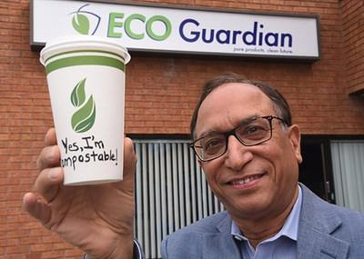 Anil Abrol, Eco Guardian President & CEO, Compostable Cup (CNW Group/Eco Guardian)
