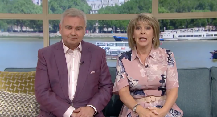 Eamonn Holmes and Ruth Langsford on This Morning (ITV)