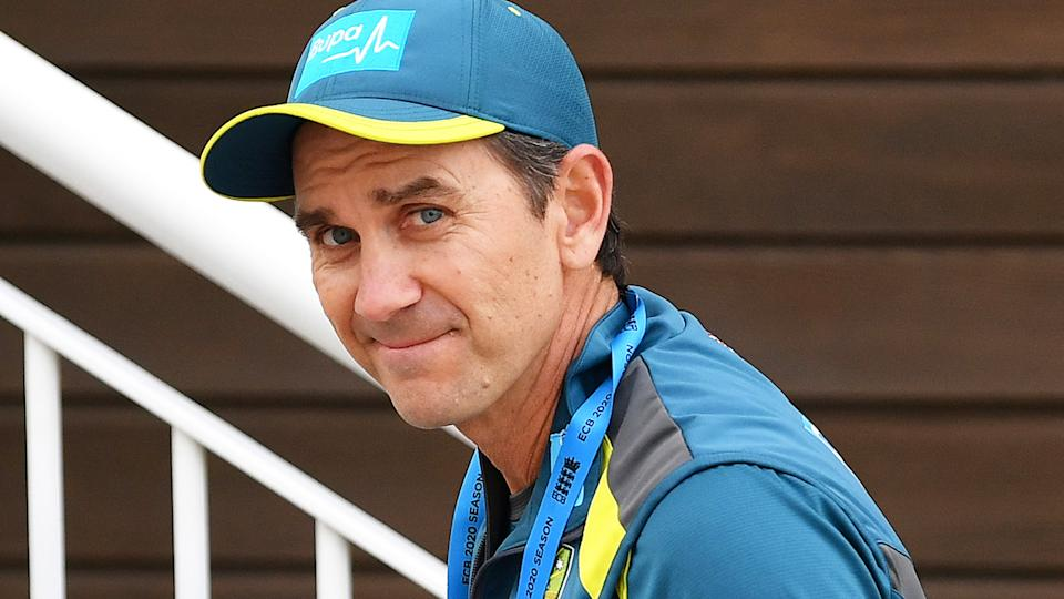Justin Langer has hit back at suggestions Australian players have grown weary of his coaching style. (Photo by Dan Mullan/Getty Images)