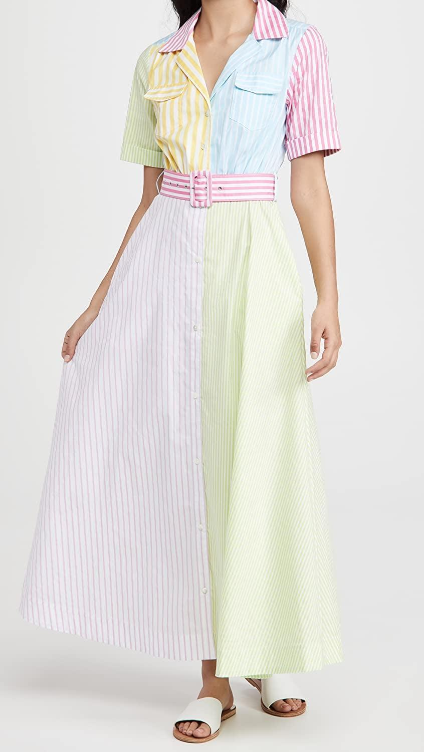 <p>This <span>Staud Millie Midi Dress</span> ($375) instantly makes us smile. We promise, the quality and special details make it worth the investment.</p>