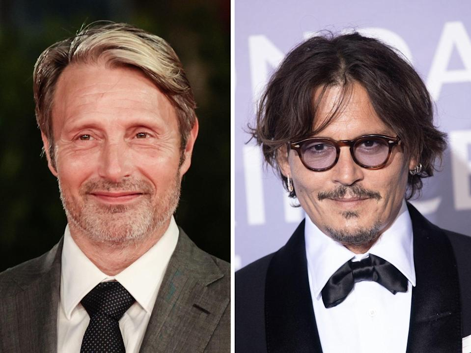MAds Mikkelsen (left) is replacing Johnny Depp in the Fantastic Beasts sequel (Rex)