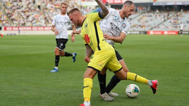 Wellington Phoenix maintained their unbeaten home record in the A-League by seeing off Melbourne City.