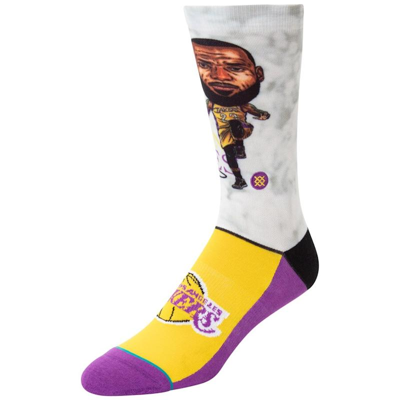LeBron James Lakers Crew Socks