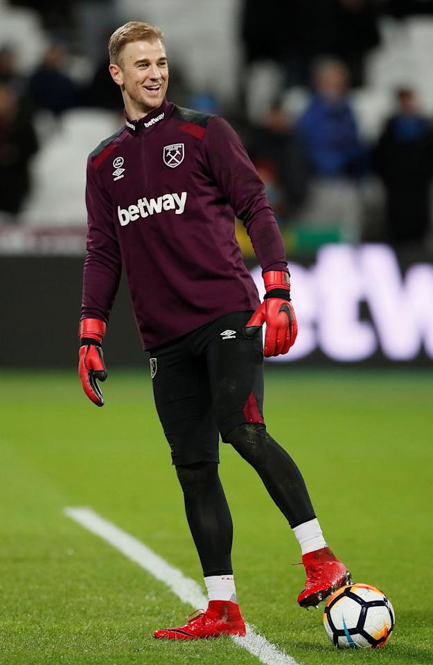 Soccer Football - FA Cup Third Round Replay - West Ham United vs Shrewsbury Town - London Stadium, London, Britain - January 16, 2018   West Ham United's Joe Hart during the warm up before the match    REUTERS/David Klein
