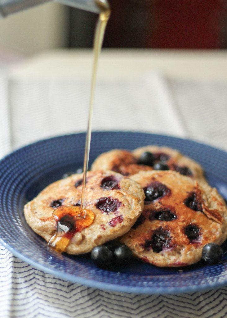 "<p>Another blender-based recipe (although you can make it without), these pancakes are filling and make minimum mess to prepare. That, in our book, is called a <strong>win</strong>.  </p><p>Try the recipe for yourself: <a class=""link rapid-noclick-resp"" href=""https://www.ambitiouskitchen.com/oatmeal-blueberry-yogurt-pancakes-gluten-free-high-protein/"" rel=""nofollow noopener"" target=""_blank"" data-ylk=""slk:ambitiouskitchen.com"">ambitiouskitchen.com</a></p>"