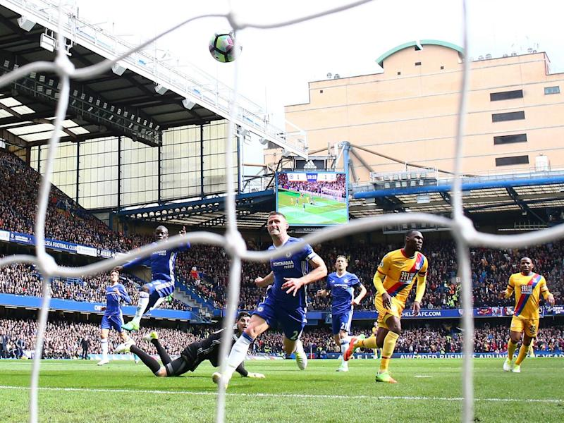 Christian Benteke's delightful chip beat Thibaut Courtois (Getty)