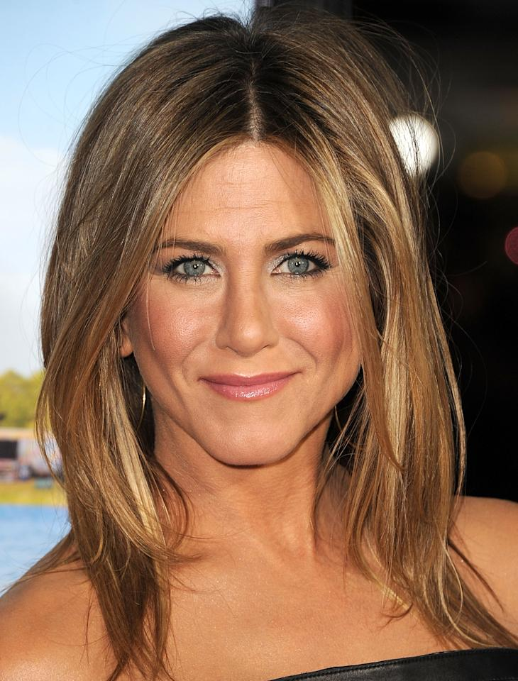 "WESTWOOD, CA - FEBRUARY 16:  Jennifer Aniston attends the ""Wanderlust"" Los Angeles Premiere at Mann Village Theatre on February 16, 2012 in Westwood, California.  (Photo by Steve Granitz/WireImage)"