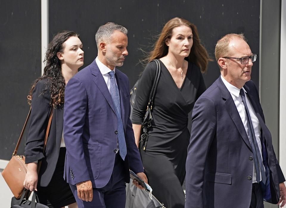 Ryan Giggs leaves Manchester Crown Court after pleading not guilty to assaulting two women and controlling or coercive behaviour (Peter Byrne/PA) (PA Wire)