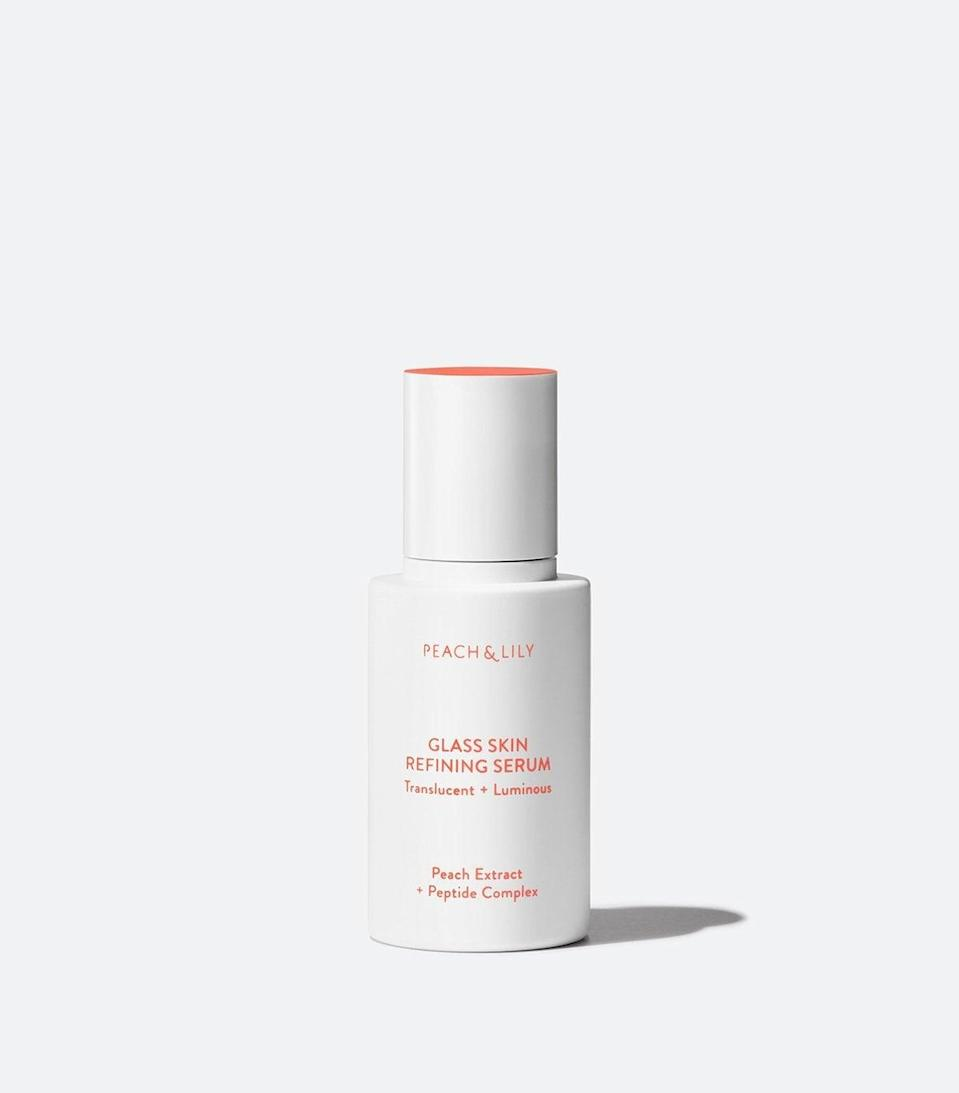 """<p>ICYMI, part of the big deal about K-beauty is achieving a """"glass skin"""" look. You know, ultra smooth, dewy skin with so much of a glow from within that you almost appear shiny, but not in a greasy way. Considering that, <span>Peach &amp; Lily's Glass Skin Refining Serum</span> ($39) had me at the name alone. Truthfully though, when you're diving head first into this many hydrating, glow-promoting products at once, it's hard to decipher which is doing the most legwork, but they do appear to work well as a team.</p>"""