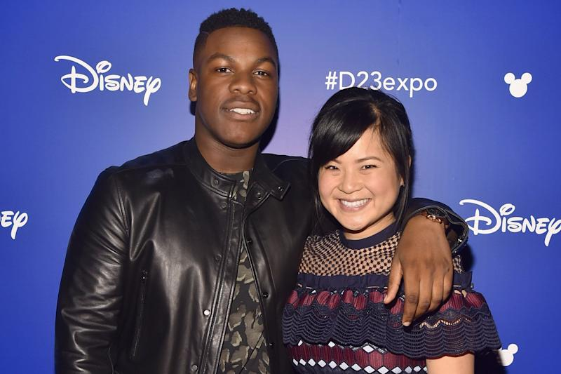 Support: John Boyega with Kelly Marie Tran: Alberto E. Rodriguez/Getty Images for Disney
