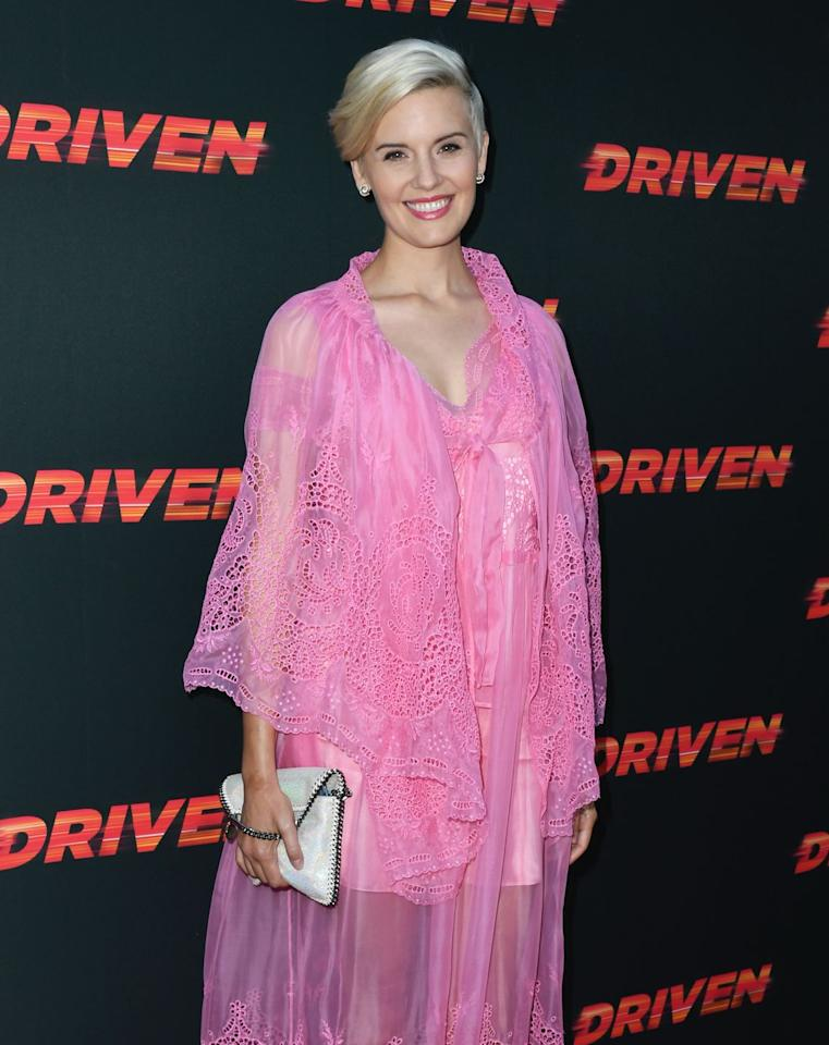 """<p>We typically see her with longer hair, but Maggie Grace's platinum blonde pixie is a fresh update to her usual look. With those longer ends on top, it's chic, fun, and flirty. </p><p><strong>RELATED:</strong> <a href=""""https://www.goodhousekeeping.com/beauty/hair/tips/g409/celebrity-hairstyles-pixie/"""" target=""""_blank"""">40 Pixie Cuts That Will Inspire You to Go Short</a></p>"""