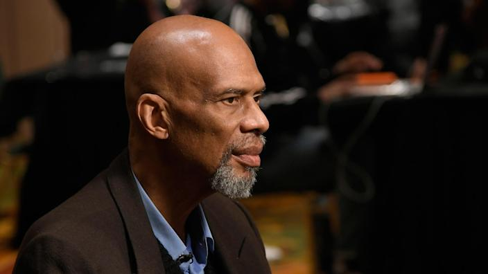 """Kareem Abdul-Jabbar believes the NBA should require all players and staff to be vaccinated. """"There is no room for players who are willing to risk the health and lives of their teammates, the staff and the fans simply because they are unable to grasp the seriousness of the situation or do the necessary research,"""" he says. - Credit: John McCoy/Getty Images"""