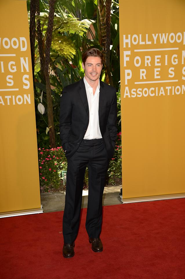 BEVERLY HILLS, CA - AUGUST 09:  Actor Josh Henderson arrives at the Hollywood Foreign Press Association's 2012 Installation Luncheon held at the Beverly Hills Hotel on August 9, 2012 in Beverly Hills, California.  (Photo by Jason Merritt/Getty Images)