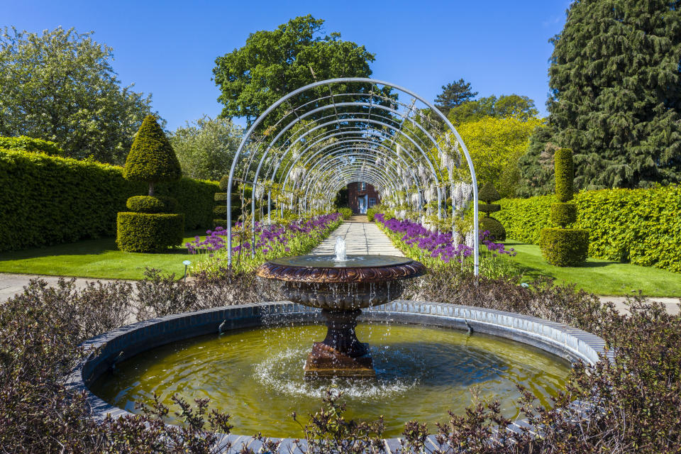 A small dedicated team of horticulturists care for RHS Garden Wisley near Woking, Surrey, while spring highlights burst into bloom, as the UK continues in lockdown to help curb the spread of the coronavirus. (Photo by Steve Parsons/PA Images via Getty Images)