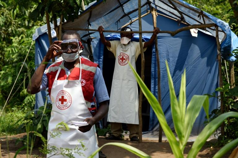 The Red Cross says the biggest challenge is ensuring robust monitoring along the porous border with DRC (AFP Photo/ISAAC KASAMANI)