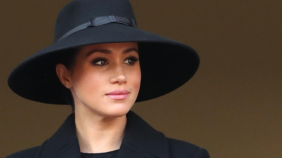 Meghan Markle dressed in black