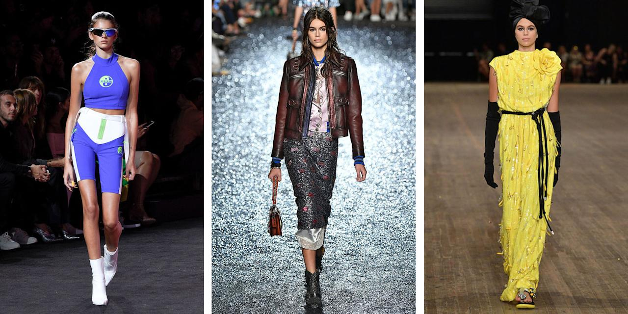 <p>See where the supermodel-in-the-making has strutted this season. </p>