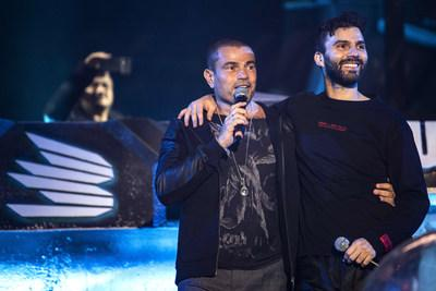Amr Diab and R3hab perform during MDL Beast, a three day festival in Riyadh, Saudi Arabia, bringing together the best in music, performing arts and culture. (PRNewsfoto/MDL Beast Festival)