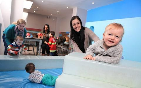 Little Highness Play Cafe in Highbury, London: a haven for parents that combines good coffee and soft play - Credit: Rii Schroer/The Telegraph