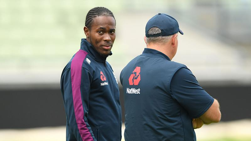 Jofra Archer has been called up to replace James Anderson at Lord's.
