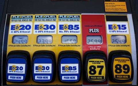 Ethanol fuel - Credit: Jim Young /Reuters