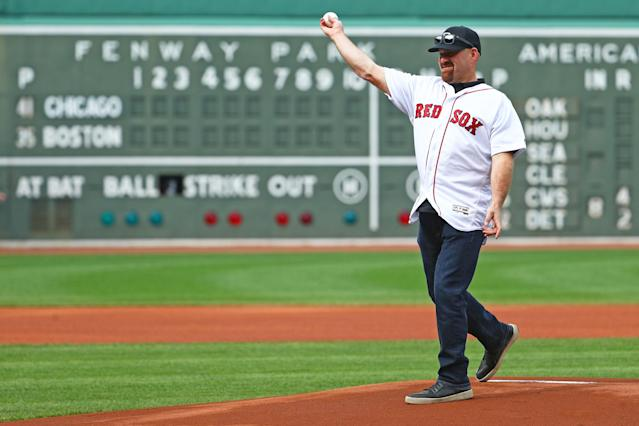 Kevin Youkilis married into the Brady clan, and he's not happy that a radio personality made a disparaging comment about his young niece. (Getty Images)