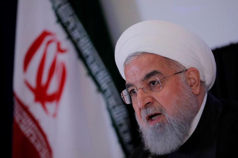 FILE PHOTO: Iran's President Hassan Rouhani speaks at a news conference on the sidelines of the General Assembly in New York