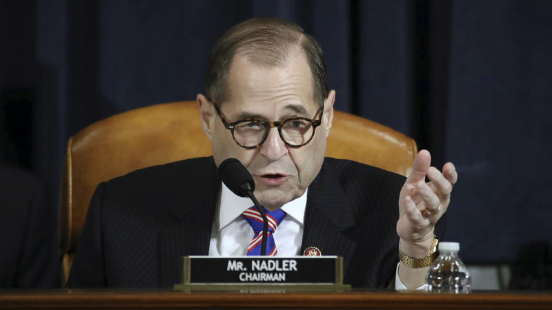 House Judiciary Committee Chairman Rep. Jerrold Nadler, D-N.Y., gestures while speaking during a hearing before the House Judiciary Committee on the constitutional grounds for the impeachment of President Donald Trump on Dec. 4, 2019, on Capitol Hill in Washington. (Photo: Drew Angerer/Pool photo via AP)