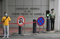 """Beijing says closing the US consulate in Chengdu was a """"legitimate and necessary response to the unreasonable measures by the United States"""""""