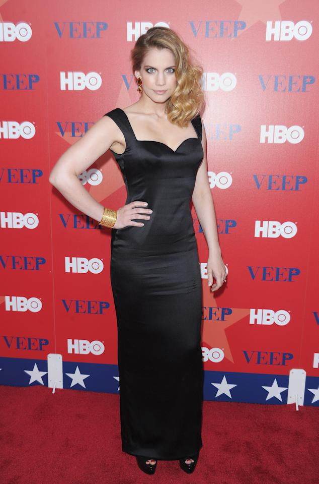 "NEW YORK, NY - APRIL 10:  Actress Anna Chlumsky attends the ""Veep"" screening at the Time Warner Screening Room on April 10, 2012 in New York City.  (Photo by Michael Loccisano/Getty Images)"