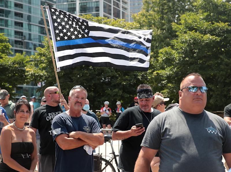 "Des militants ""Blue Lives Matter"" à Chicago"