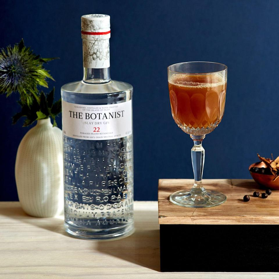 <p><strong>Ingredients</strong></p><p>1.5 oz The Botanist Gin<br>.75 oz fresh lemon juice<br>.5 oz chai syrup*<br>4 dashes chocolate bitters </p><p><strong>Instructions</strong></p><p>Add all ingredients to a cocktail shaker. Add ice and shake. Fine strain into a coupe glass. </p><p><em>*Chai Syrup: </em>Add 1 cup of water and 1 cup of sugar to a sauce pan and bring to a boil; Turn off the heat, add 3 chai tea bags and let steep for 10 minutes; Remove tea bags and let cool</p>