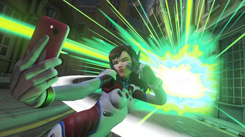 D.Va will now be taking selfies all over Heroes of the Storm's PTR (Blizzard)