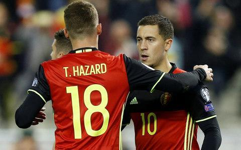"""Eden Hazard has warned Barcelona that it is his time to shine in the Champions League, as Antonio Conte considers giving the Belgian the responsibility of trying to fire Chelsea towards the quarter-finals. Head coach Conte could start Hazard as a 'false nine' at Stamford Bridge for Tuesday night's last-16 first-leg clash, ahead of Alvaro Morata and Olivier Giroud, who are still short of full match fitness. Conte had not confirmed his team on Monday night and was still considering his options, but Hazard is Chelsea's form man and the player Barcelona fear most. He has netted three times in six Champions League games this season and is the club's top scorer in all competitions with 15 goals. He would further enhance his reputation throughout Europe by adding to that tally against Barca. Hazard's Premier League pedigree has never been in doubt, but the 27-year-old is keen to now truly announce himself against Europe's best. """"Every game I try and play my best football,"""" said Hazard. """"Last year we didn't play Champions League, but this year we are back and I played a few good games: Atletico Madrid away, Roma, here against Madrid. You want to shine when you play the best in the world. If I want to reach that level, I need to play a great game."""" Despite often being compared to and judged against Messi, Hazard has only gone head-to-head against the Argentine on one previous occasion – for Belgium in the 2014 World Cup – and lost. Eden Hazard's brother Thorgan also plays for Belgium Credit: REUTERS """"It's good to be compared with the greatest ever, Messi or (Cristiano) Ronaldo,"""" said Hazard. """"But I'm completely different. We play in a different league. I try to do my job and try to reach their level because they are the best in the world. Every season I try and do my best. """"When we play these kinds of games, we need to perform. If you want to be one of the best, you have to play well in the big games. This is a big game. Let's go for it and try to give everything."""" A goal or"""