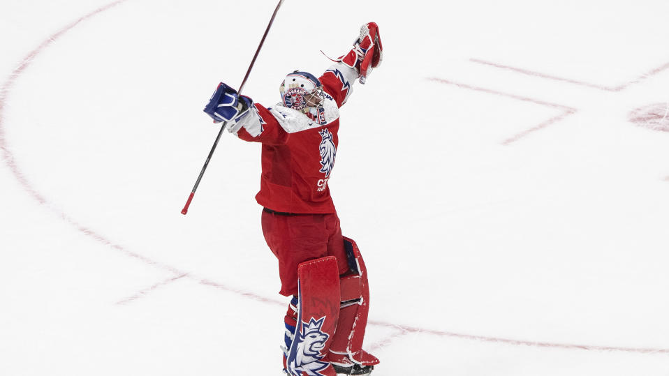 Lukas Parik and the Czech Republic are the feel-good story of the world juniors. (Jason Franson/The Canadian Press via AP)