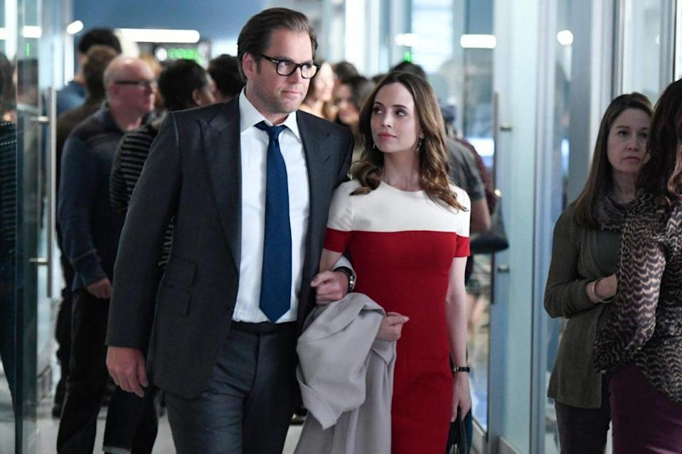 Eliza Dushku and Michael Weatherly on Bul