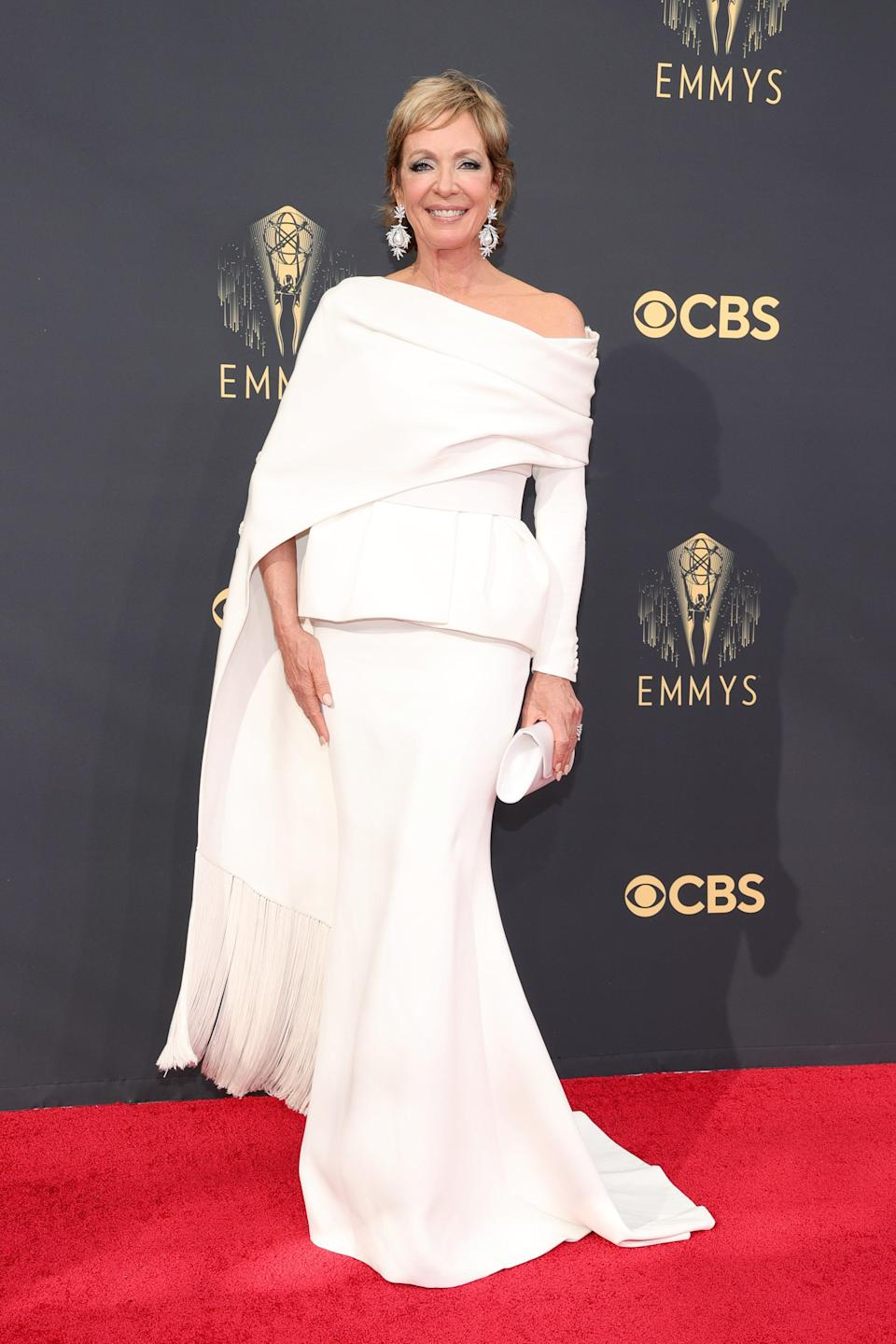 The icon herself! Allison wore an off-the-shoulder white gown with statement earrings.