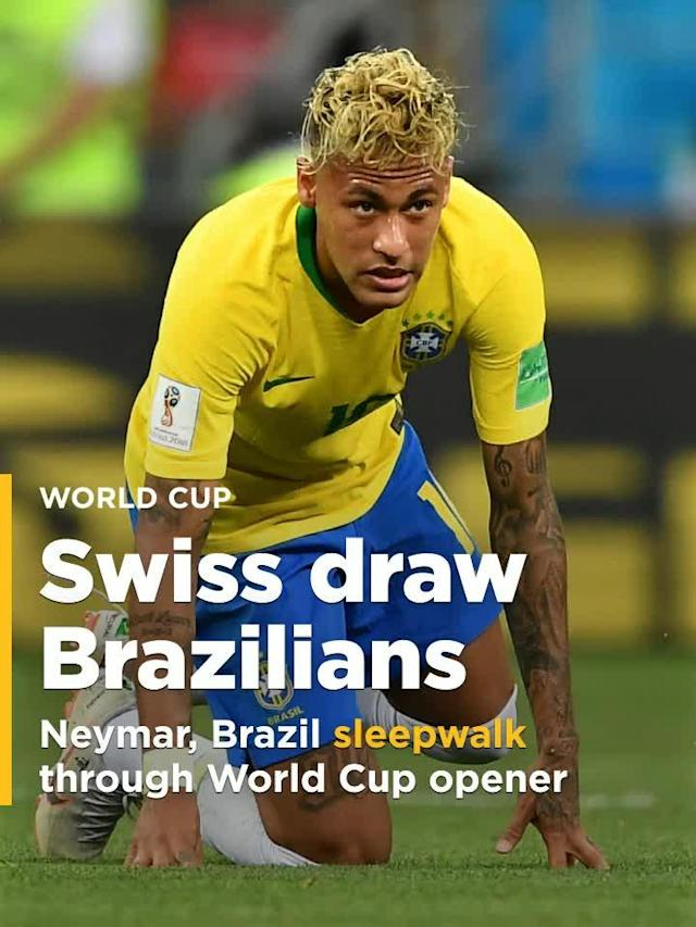 Brazil settled for a 1-1 tie against a resilient Switzerland in the tournament opener for both nations Sunday in Rostov-on-Don.