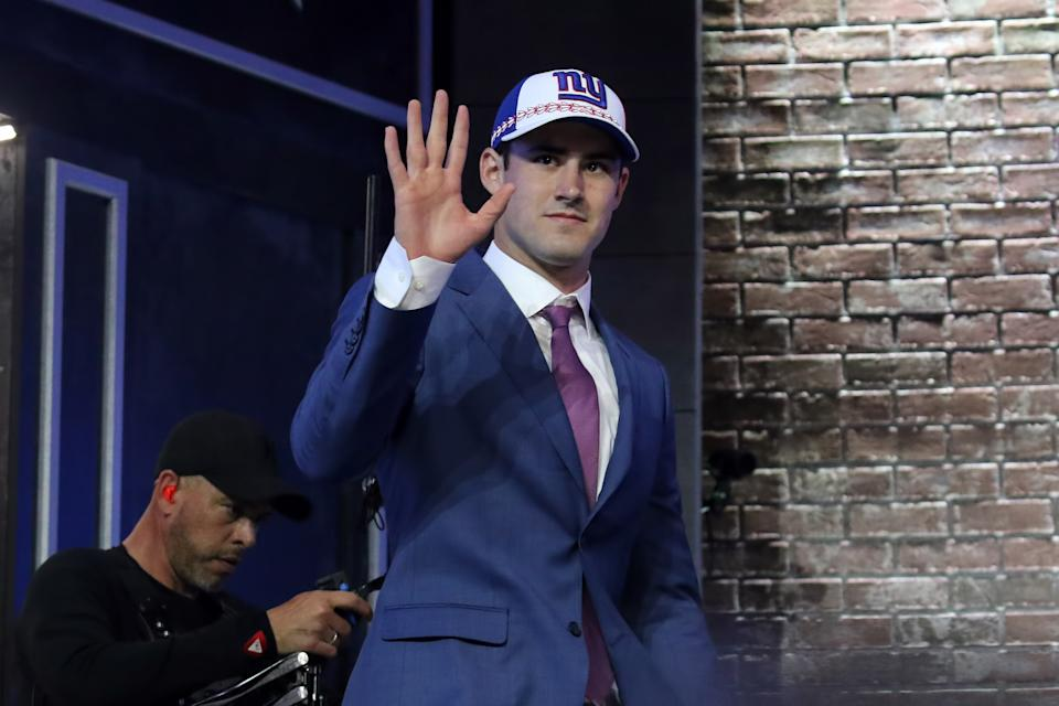 New York Giants rookie quarterback Daniel Jones might end up getting a shot to win the starting job in training camp after all. (Getty Images)