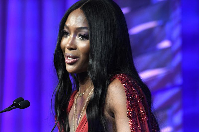 Naomi Campbell speaks onstage during the Human Rights Campaign's 19th Annual Greater New York Gala at the Marriott Marquis Hotel