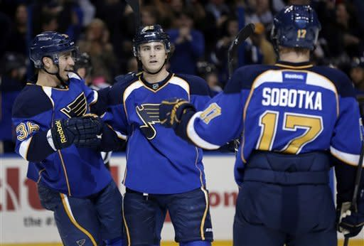 Blues rally from 2 down, beat Oilers 4-2