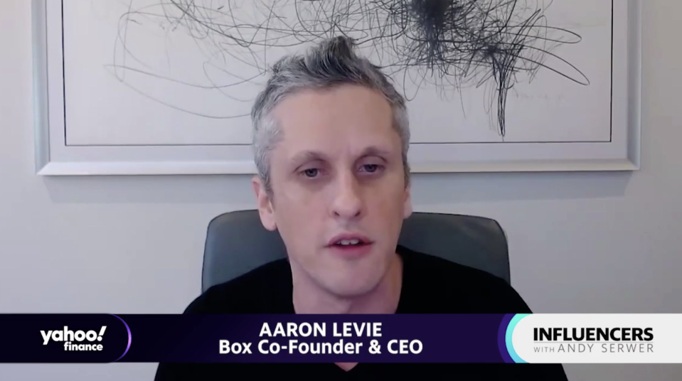 """Box CEO Aaron Levie appears on """"Influencers with Andy Serwer."""""""
