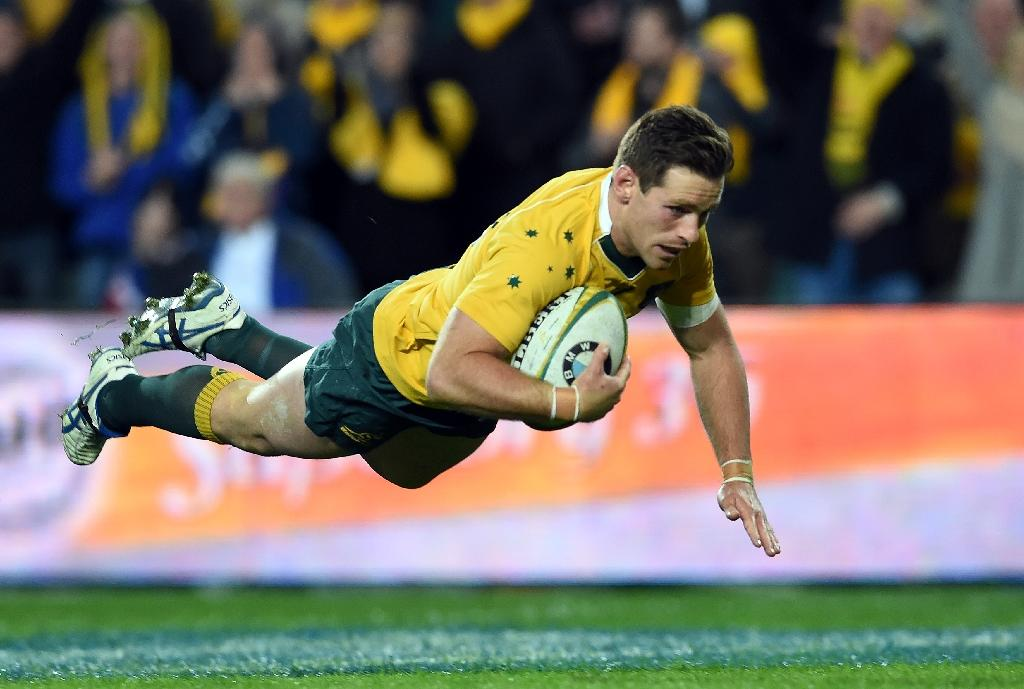 Wallaby fly-half Bernard Foley missed the first four rounds of the Super Rugby season after a head knock (AFP Photo/SAEED KHAN)
