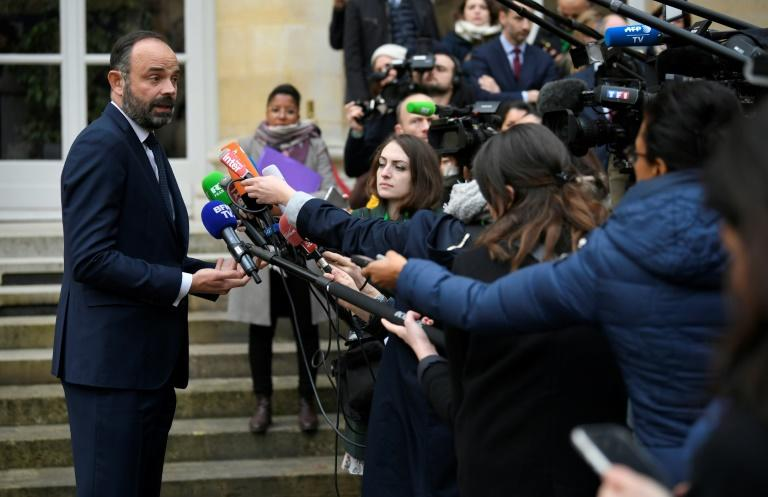Prime Minister Edouard Philippe addressed journalists after his meeting with union leaders in Paris on Thursday, the 34th day of a massive transport strike