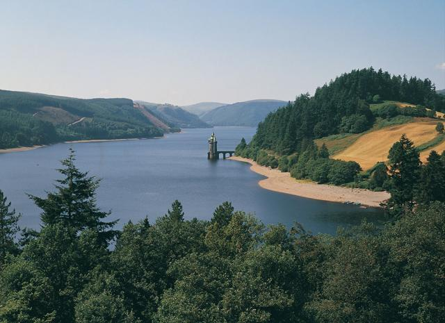 "The scenic environs of Lake Vyrnwy in <br>Powys, Wales<br><br>Crown copyright (2006) <a target=""_blank"" href=""http://www.visitwales.co.uk/"">Visit Wales</a>, all rights reserved"