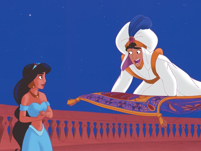 Aladdin jasmine carpet ride
