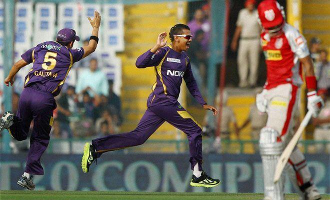 In an innings where 183 runs were scored at the loss of 5 wickets, Sunil Narine emerged with figures of 4/19 in 4 overs