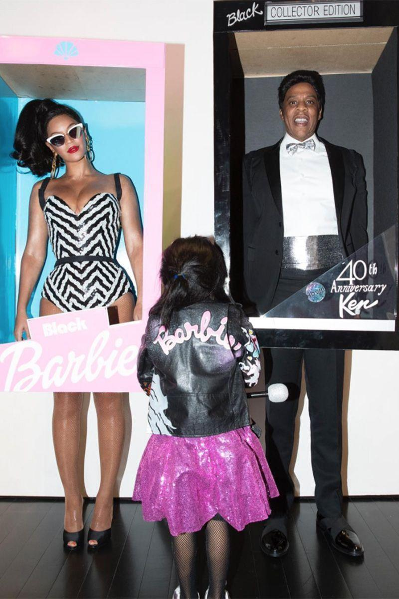 <p>Beyoncé, JAY-Z, and Blue Ivy as Barbie and Ken.</p>