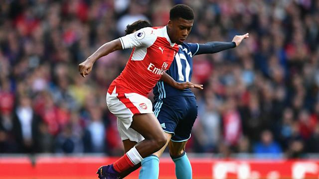 Alex Iwobi Premier League Arsenal v Middlesbrough 231016